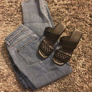 Cute Black Sandals With Heel